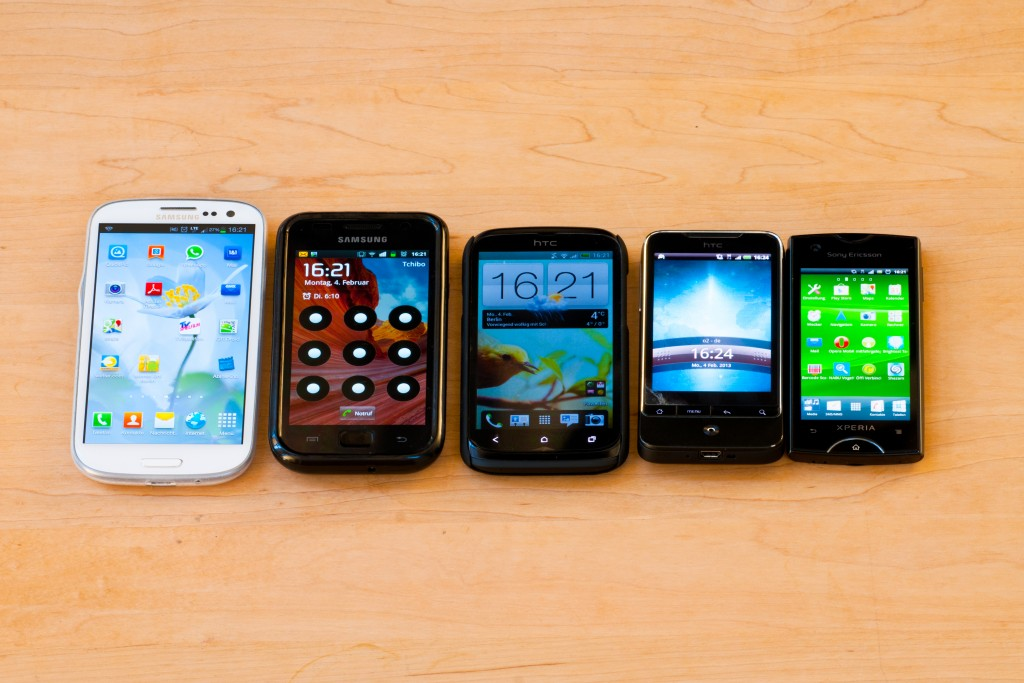 Alte Smartphones - Foto: NABU/S.Hennigs
