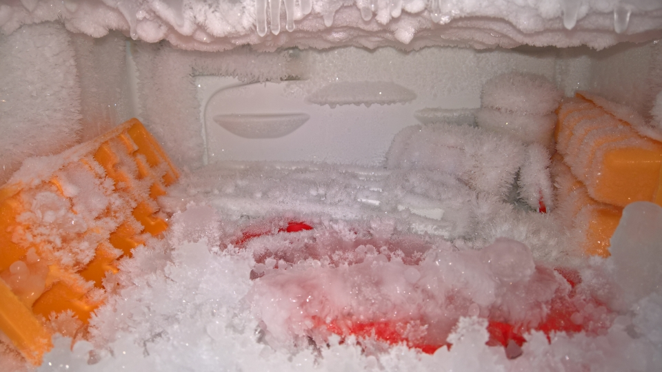 Stromfresser Tiefkühlfach (wenn man die Tür offen lässt...). Foto: Danny Püschel