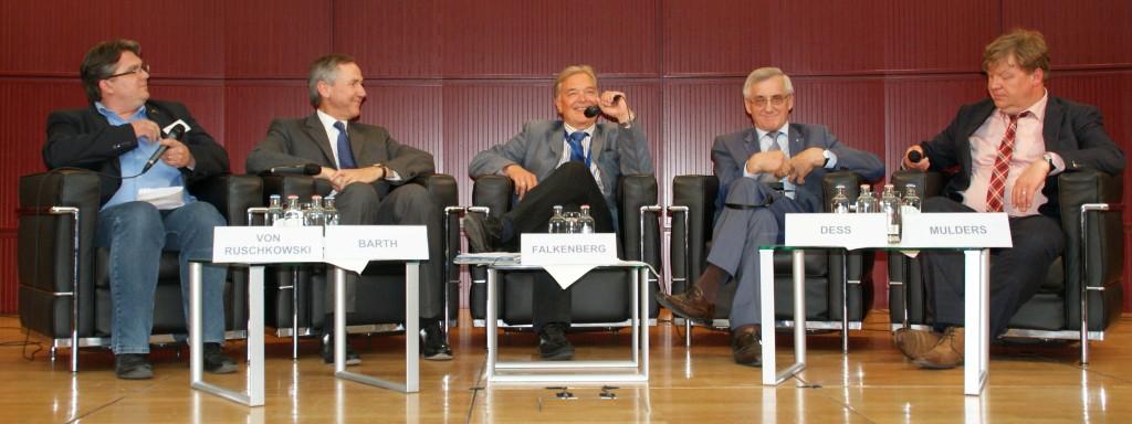 Dr. Eick von Ruschowski, Dr. Chrsitian Barth, Karl Falkenberg, MdEP Albert Deß, Dr. Aard Mulder