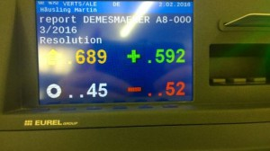 Bild der Abstimmungstafel im Plenarsaal - Foto: MEP Martin Häusling