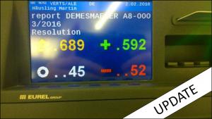 Bild der Abstimmungstafel im Plenarsaal – Foto: MEP Martin Häusling (bearbeitet)
