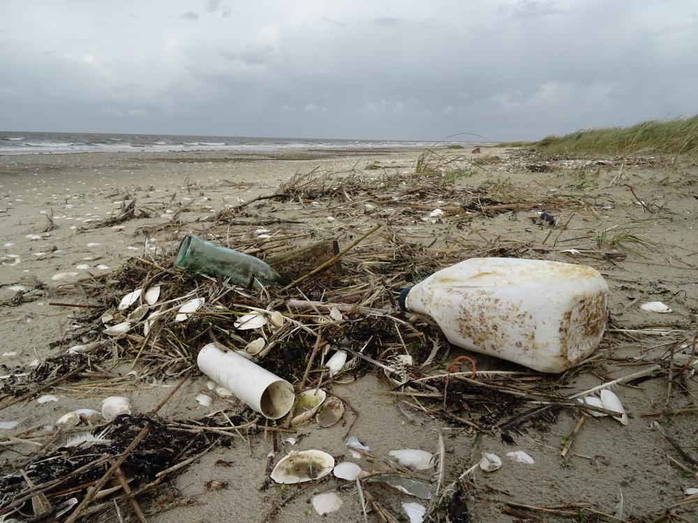 Müll am Strand von Trischen