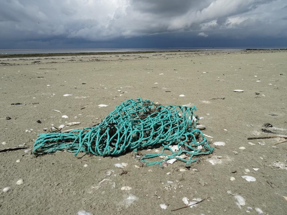 """Fischernetze - jährlich gehen mehrere Tausend von ihnen über Bord und fischen als sog. """"Geisternetze"""" noch jahrelang weiter."""