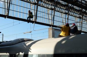 Der Train to Paris wird besetzt.