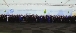 Familienfoto bei der Klimakonferenz.