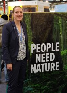 NABU-Expertin Naturschutz und Energiewende Inga Römer auf der COP 21