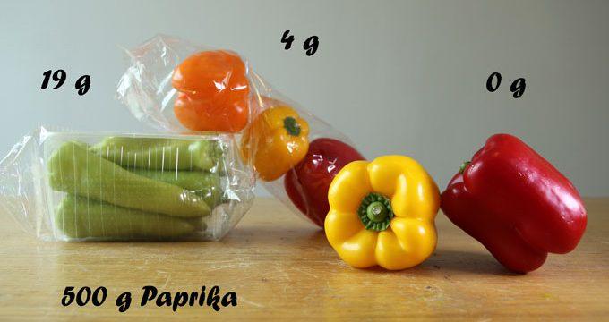 Vorverpackungen bei Obst und Gemüse – Foto: NABU/K. Istel