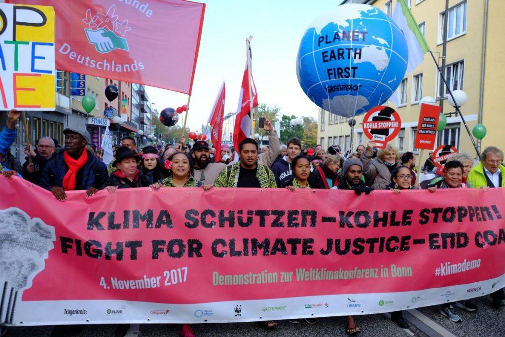Die Pacific Climate Warriors bei der Demonstration Klima schützen - Kohle stoppen!