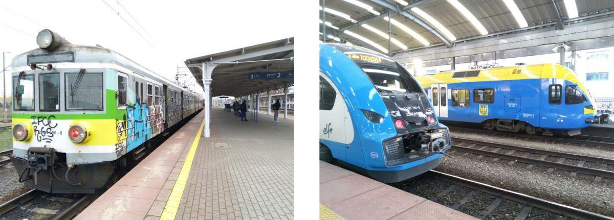 Alte und neue Züge ergänzen sich zu einem guten Schienenverkehrssystem in Polen.