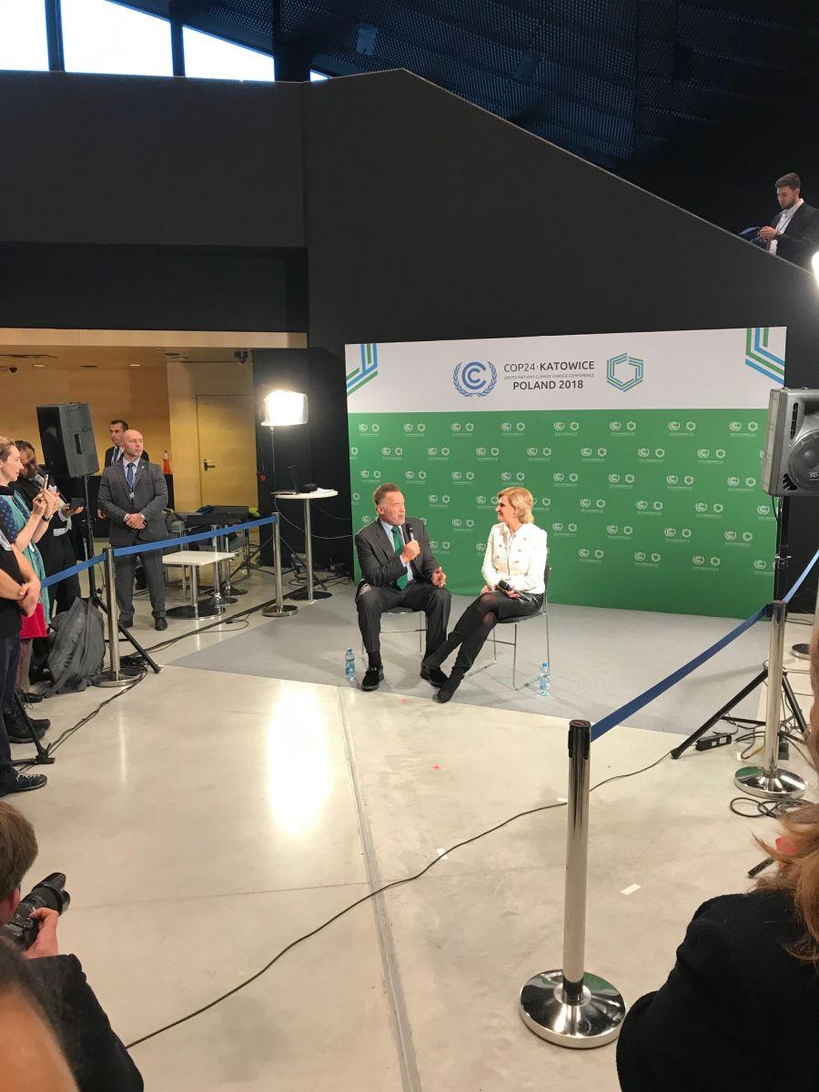Arnold Schwarzenegger bei der Weltklimakonferenz