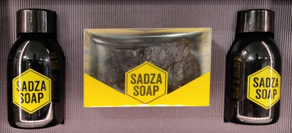 Seife aus Kohle. Teil des Stadtmarketings.