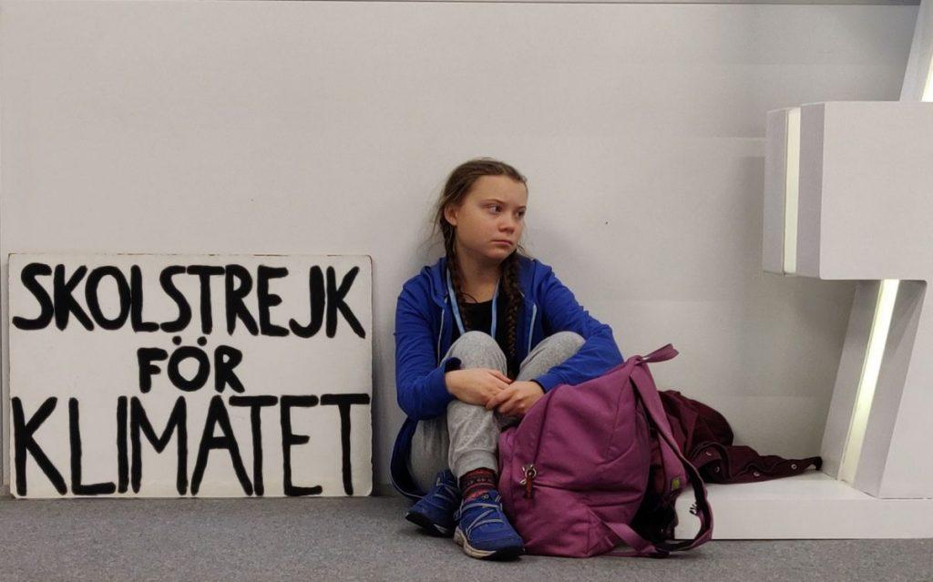 Greta Thunberg streikt für die Zukunft. Hier an einem Freitag in Kattowitz.