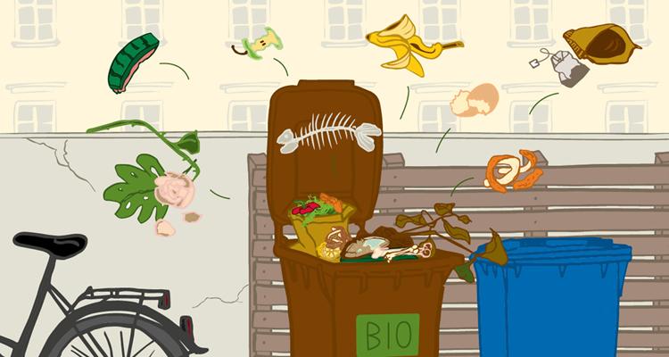 Biomüll sammeln und die Umwelt schützen