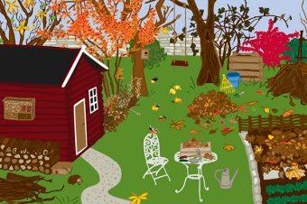 Winterfester Garten Grafik: Jule Roschlau