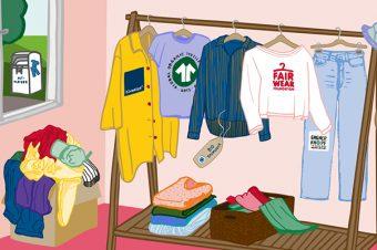 Nachhaltige Kleidung Grafik: Jule Roschlau
