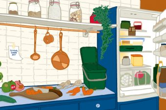 Foodwaste - Illustration: Jule Roschlau