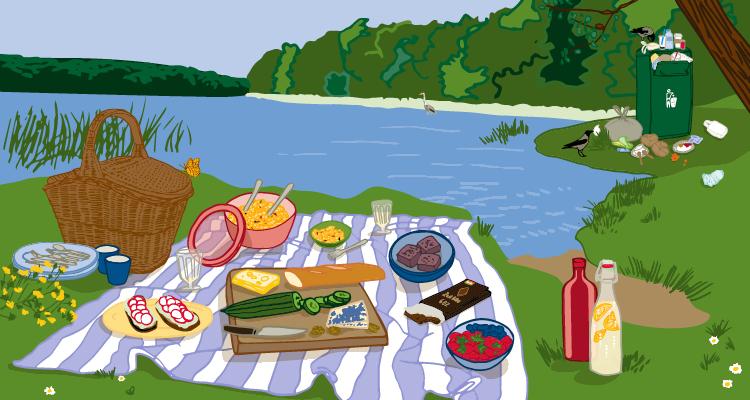 Umweltfreundlich picknicken