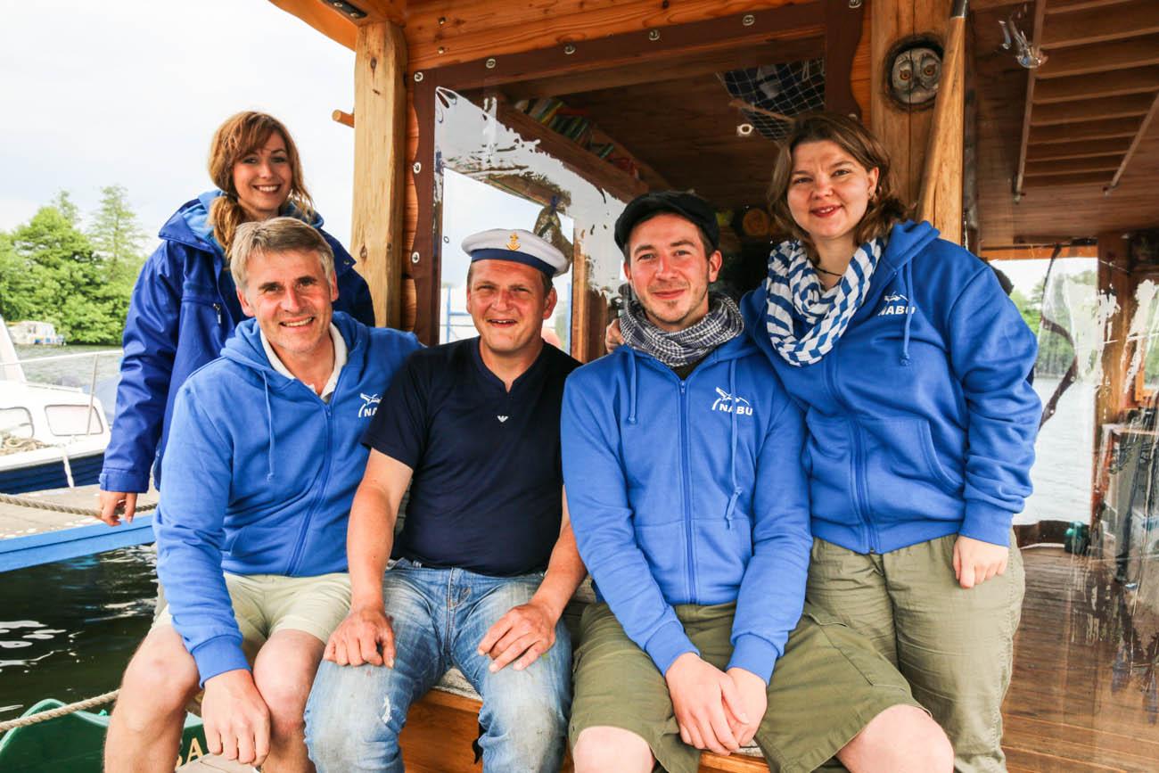 Bootsstände Lahe - mit Hafenmeister Mette