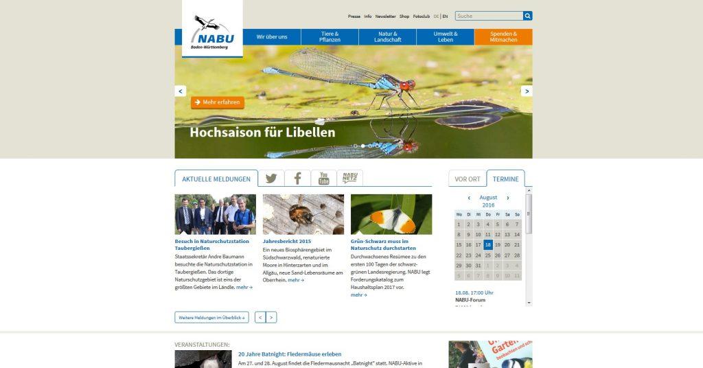 Homepage NABU BW