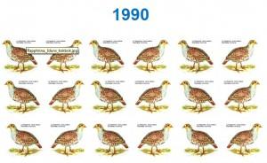 Von 18 Rebhühnern 1990...