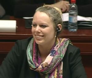 Die Luxembourgische Umweltministerin Carole Dieschbourg leitete die Sitzung.