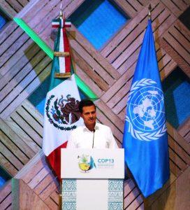 Enrique Peña Nieto, Präsident Mexikos auf der COP13 Foto: CBD