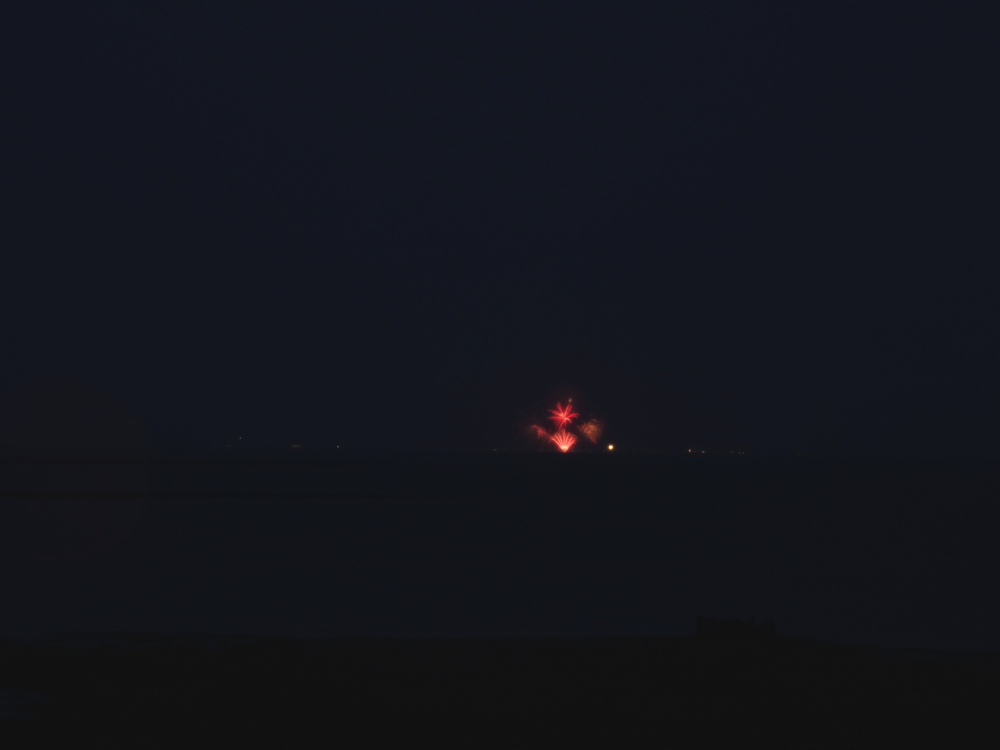Das Feuerwerk war auch auf Trischen zu sehen