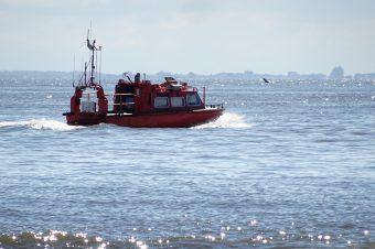 Die Vermessungsboote sind sehr flink und wendig und können mühelos auch flache Bereiche befahren.