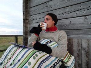 Vögel beobachten und Kaffee trinken: geht auch ohne Strom